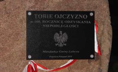 W Prątnicy odsłonięto obelisk upamiętniający stulecie odzyskania niepodległości