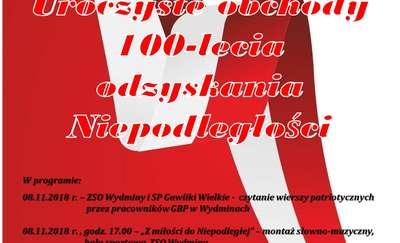 Uroczyste obchody 100-lecia odzyskania niepodległości