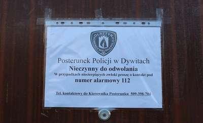 Uwaga zamknięte posterunki policji