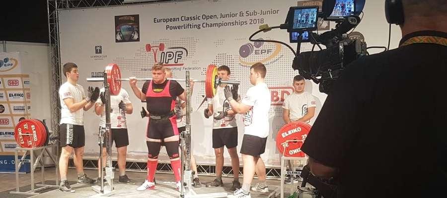 Tomek w czasie mistrzostw w Kownie