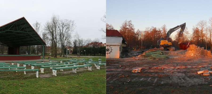 Amfiteatr znika z plaży miejskiej