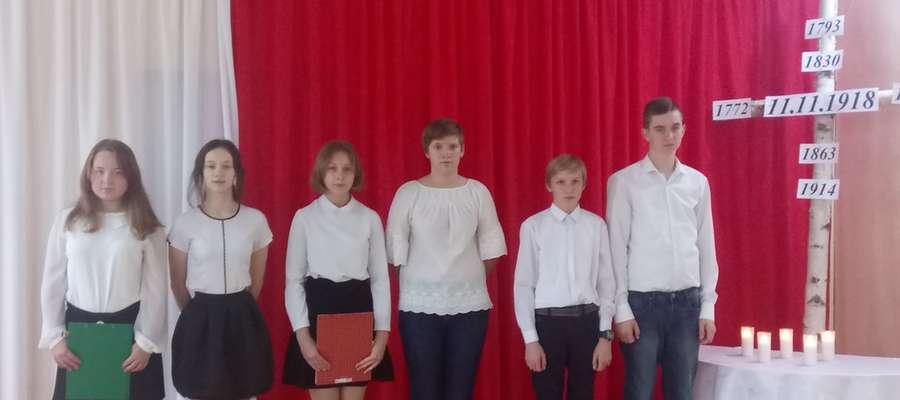 Podczas apelu w szkole w Boleszynie