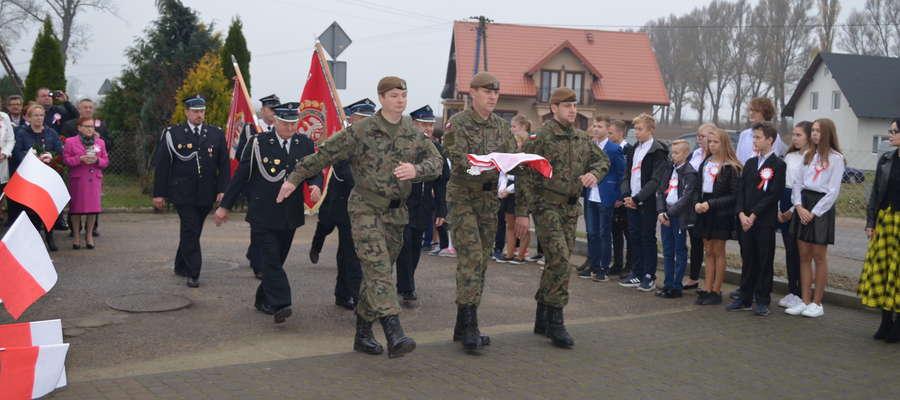 W czasie niepodległościowej uroczystości w Zajączkowie