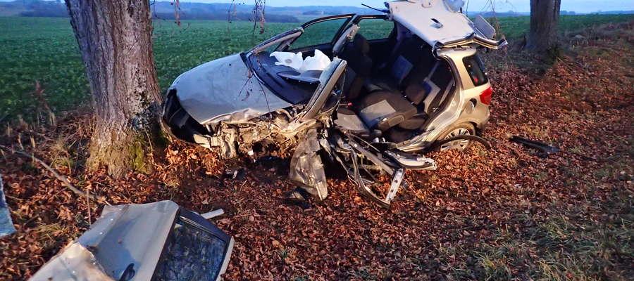 Wypadek na drodze w Ignalinie