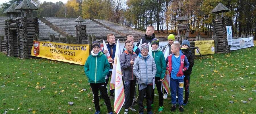 Młodzi biegacze z SP 2 w Grunwaldzie