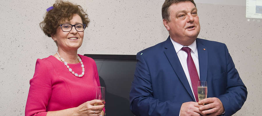 Prezydent Elbląga Witold Wróblewski wraz ze swoją żoną