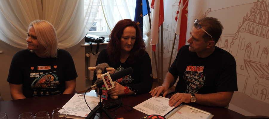 Konferencja prasowa dotycząca finału WOŚP w Elblągu
