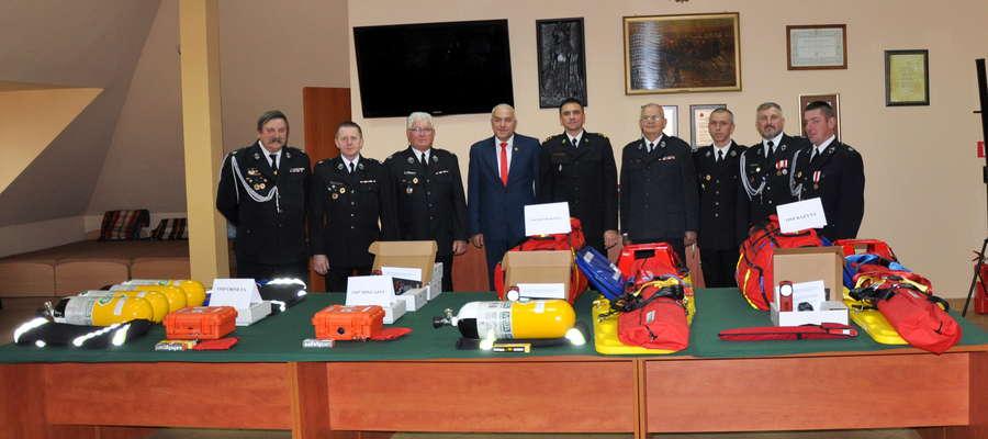 Sprzęt trafi do jednostek Ochotniczych Straży Pożarnych w Ornecie, Mingajnach, Henrykowie i Bażynach