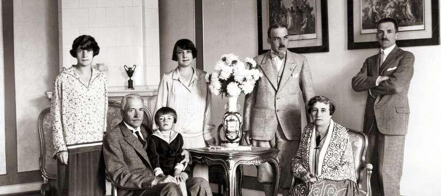 Prezydent Mościcki z rodziną.
