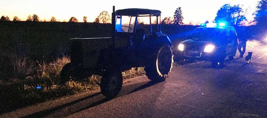Traktorzysta miał w organizmie prawie 2,5 promila alkoholu