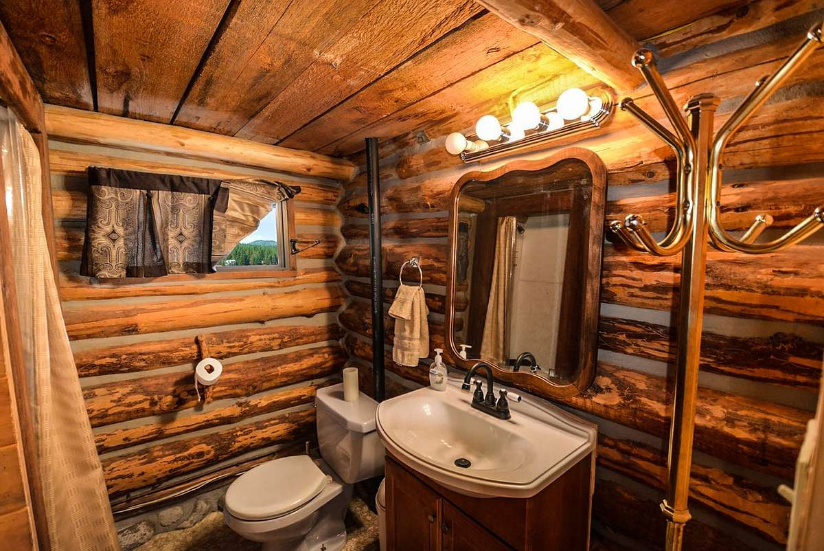 Pomysły na drewno w łazience - full image