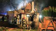 Pożar domu jednorodzinnego w Olsztynie [ZDJĘCIA, FILM]