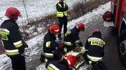 Wypadek w Kalskich Nowinach. Jedna osoba trafiła do szpitala