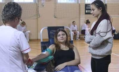 Uczniowie oddawali krew