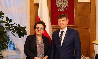 Wizyta burmistrza w Ministerstwie Edukacji Narodowej