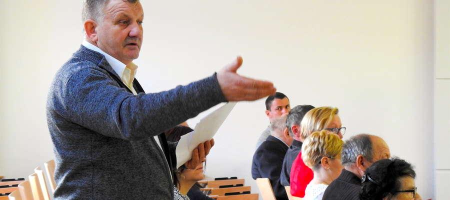 Leszek Sargalski, członek nowomiejskiej Izby Rolniczej z Gwiździn