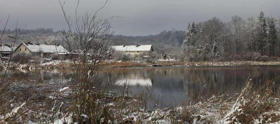 Zimowy krajobraz w Dzikowie