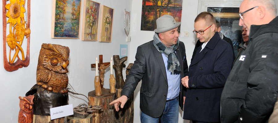 Marek Kałuża, prezes Stowarzyszenia w rozmowie z nowym burmistrzem Iławy Dawidem Kopaczewskim