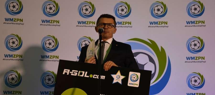 Nagrodę dla Piłkarskiego samorządu roku odebrał Bogusław Fijas, wójt gminy Ostróda