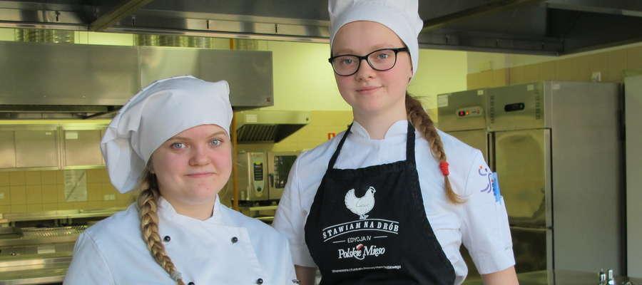 Małgorzata Kłosowska i Natalia Grubert ze szkoły gastronomicznej