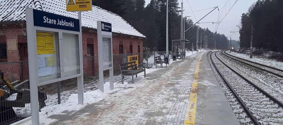 Zmodernizowany peron w Starych Jabłonkach