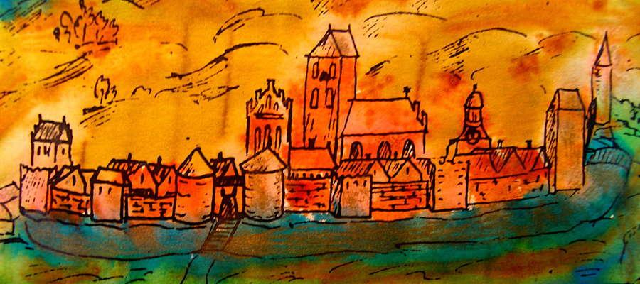 Rycina z panoramą Nowego Miasta z 1655 roku