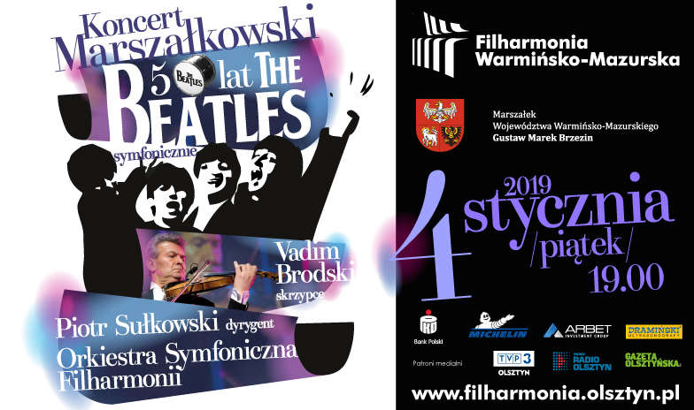 Koncert Marszałkowski - 50 lat - The Beatles symfonicznie - full image