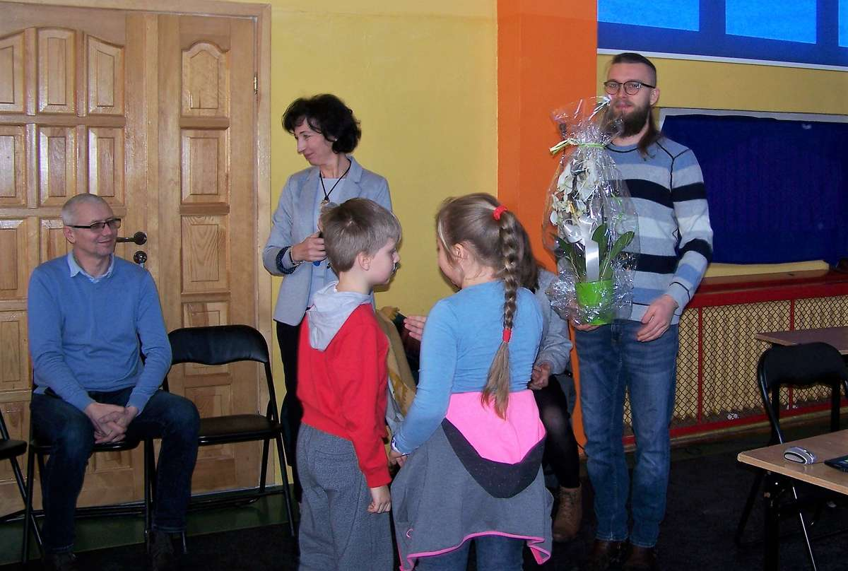 Sebastian Teska był gościem w szkole