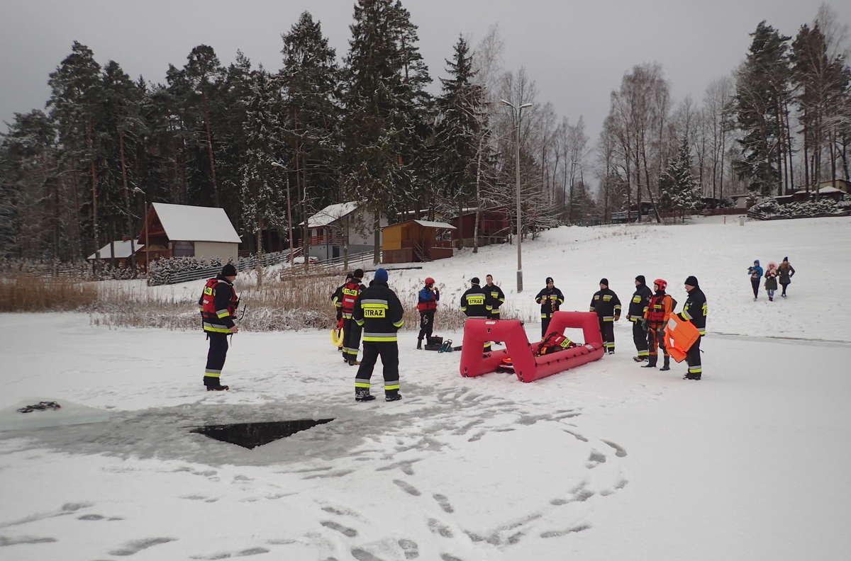 Ćwiczenia lidzbarskich strażaków i druhów OSP