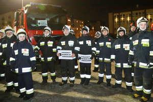 Strażackie serce dla Owsiaka. Kolumna wozów strażackich przejechała ulicami Olsztyna [ZDJĘCIA, VIDEO]