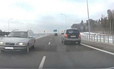 Jechał pod prąd na S16 pod Olsztynem [VIDEO]