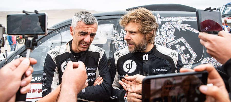 Sebastian Rozwadowski i Benediktas Vanagas na mecie 7. etapu Rajdu Dakar 2019