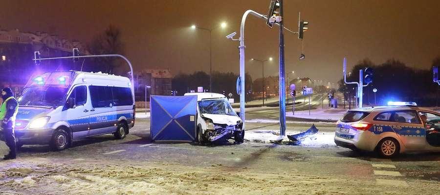 Wypadek śmiertelny w Olsztynie
