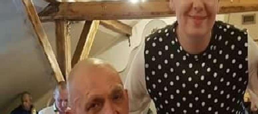 Pan Henryk z Adrianą Porowską dyrektorką Kamiliańskiej Misji Pomocy Społecznej w Warszawie