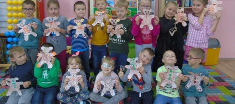 Przedszkolaki z Kurzętnika prezentują swoje prace