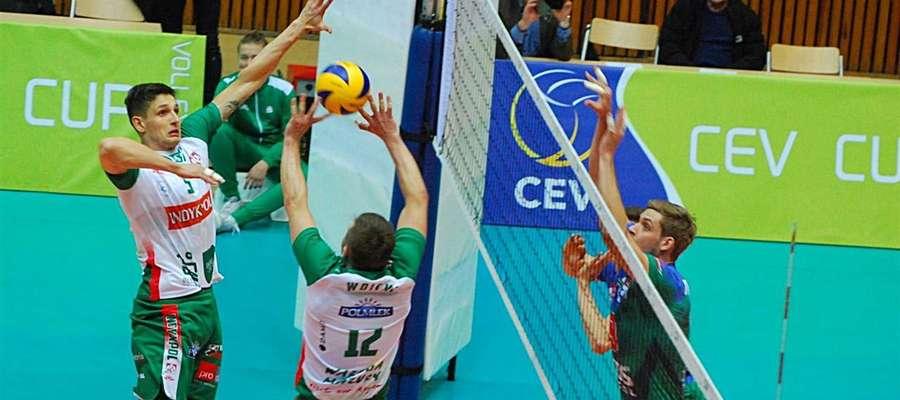 Indykpol AZS Olsztyn przegrał oba mecze 1/8 finału Pucharu CEV z Kuzbassem Kemerowo i odpadł z rozgrywek