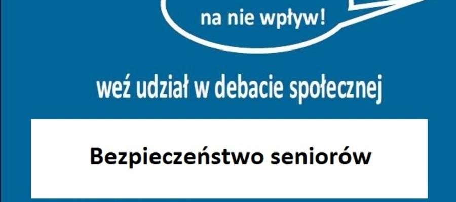 Debata społeczna o bezpieczeństwie seniorów
