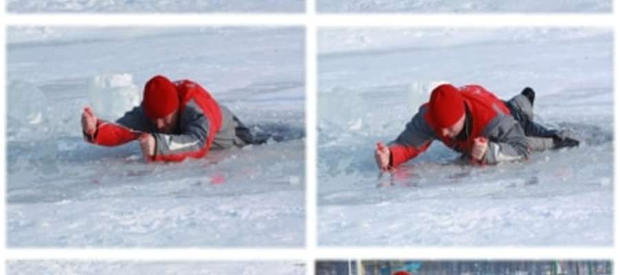 W sytuacji załamania się lodu nieocenionym narzędziem ratowniczym są kolce lodowe