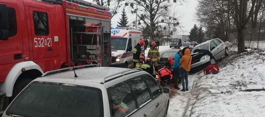Wypadek w Bramce na drodze Olsztyn-Morąg