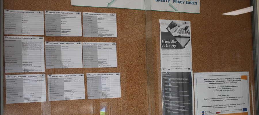 W żuromińskim PUP oferty z zagranicy są umieszczane na specjalnej tablicy