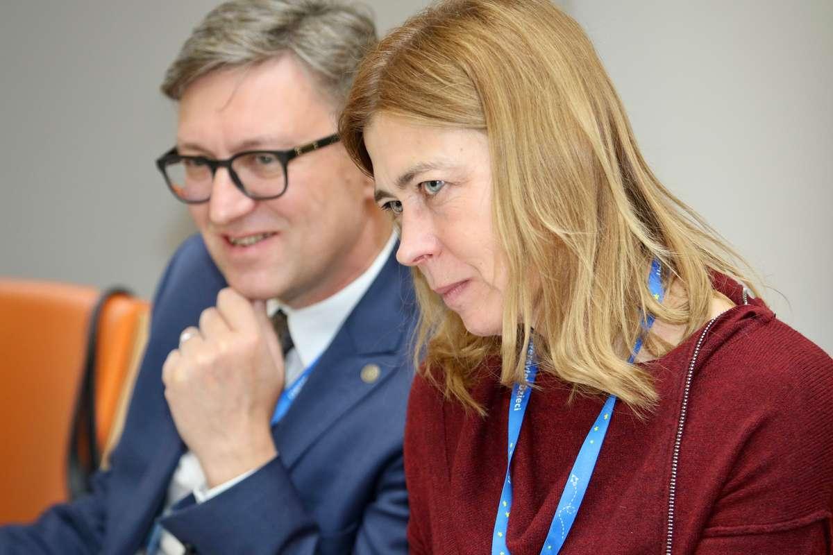 Anna Grąbczewska i prof. Jerzy Przyborowski