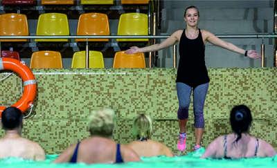 Przyjdź do Aquasfery na darmowy aqua aerobik!