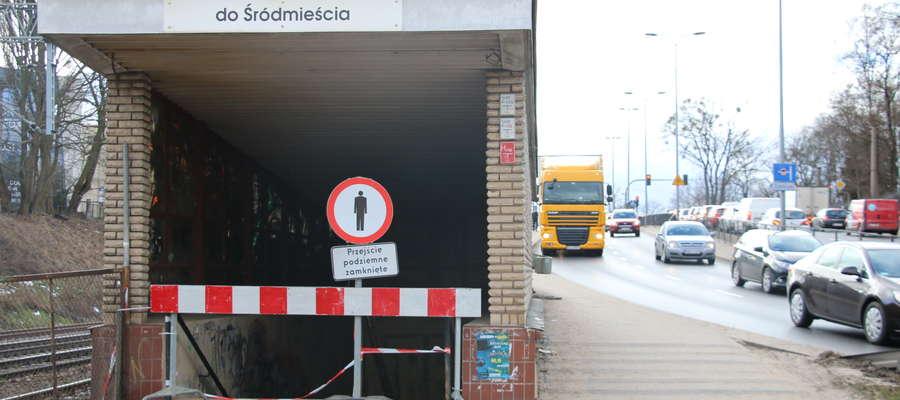 Tunel łączący Zatorze z centrum Olsztyna zamknięty do odwołania [SONDA]