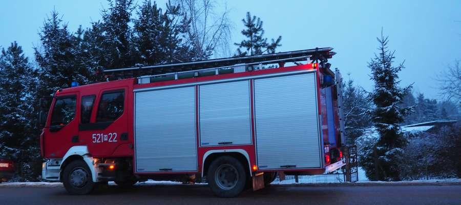 Na miejscu niezwłocznie pojawiła się straż pożarna