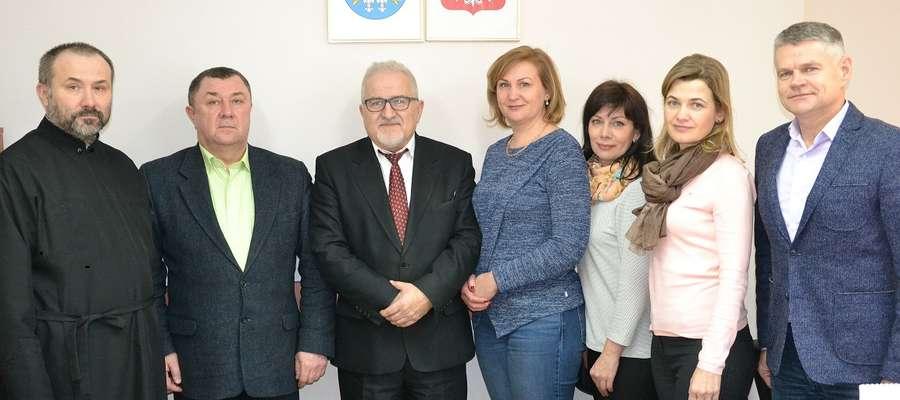 Inicjatorem spotkania był Marek Borkowski, przewodniczący rady powiatu (pierwszy z prawej)