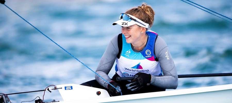 Agata Barwińska podczas zawodów Pucharu Świata w Miami