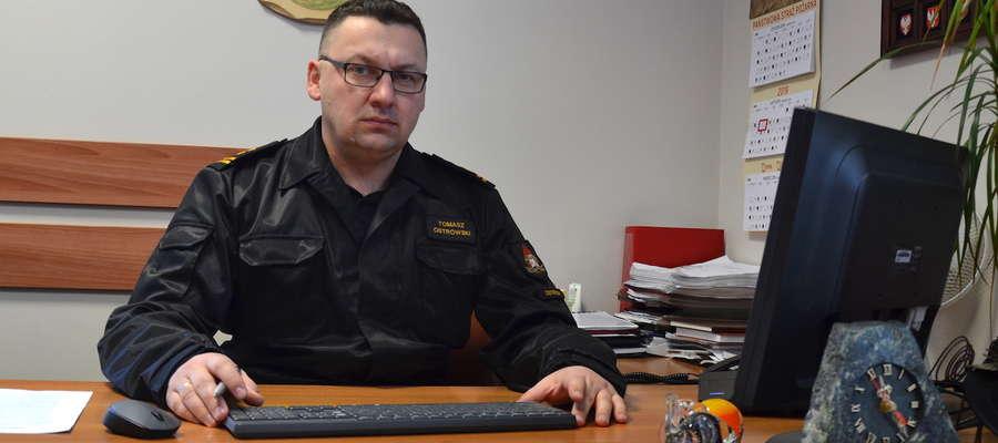 Tomasz Ostrowski, komendant powiatowy PSP w Ostródzie