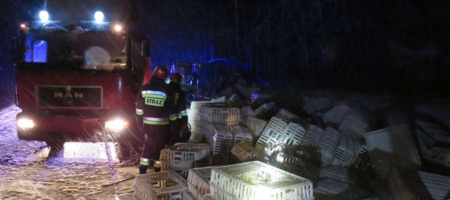 Akcja strażaków trwała kilka godzin