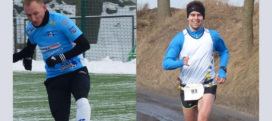 Czy biegacz Adrian Przybyła (z prawej — tu podczas zwycięskiej dla niego I edycji biegu Zasuwaj) dogoni piłkarza Jezioraka Arkadiusza Kucińskiego? W niedzielę 24. lutego o północy koniec głosowania w naszym plebiscycie