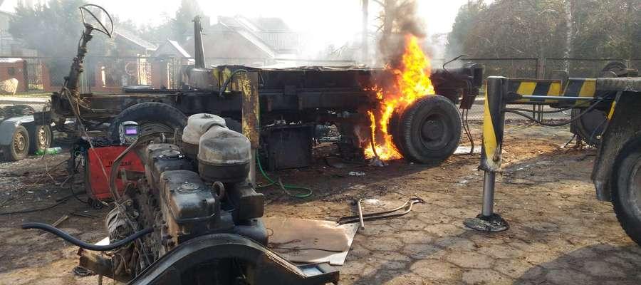 Pożar był, a strażakom powiedziano, że go nie było